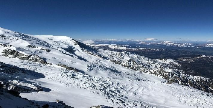 Vista do alto do Mont-Blanc  -  França